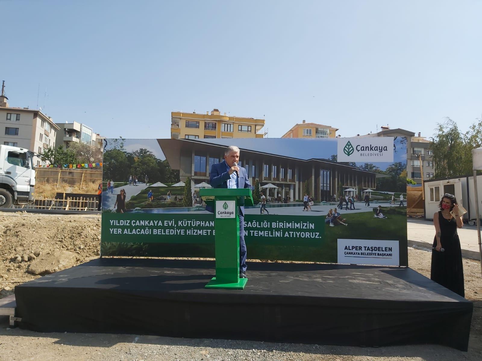 cankaya belediyesi yildiz cankaya evi ve hizmet binasi temel atma toreni